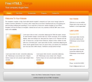 freehtml5orange